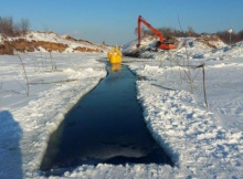 Submerged crossing of trunk pipeline through Kuybyshev Reservoir